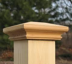 Miterless Post Caps Wood Fence Caps And Deck Tops Post Cap Depot