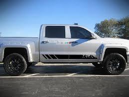 Side Door Mountains Sticker Design For Chevrolet Silverado Decal