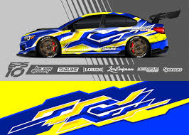 Premium Vector Car Wrap Decal Graphic Design Abstract Stripe Racing