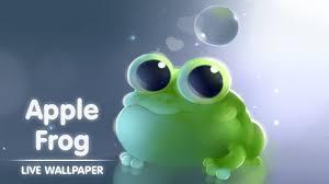 free apple frog live wallpaper