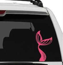 Mermaid Tail Vinyl Car Window Decal Sticker Beach Ocean Sand Water Life Fish Fun Car Decals Vinyl Car Window Stickers Window Decals