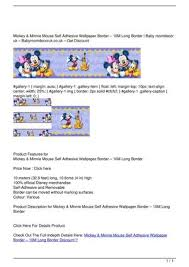 minnie mouse self adhesive wallpaper