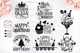 birthday party quotes birthday cut files bundle