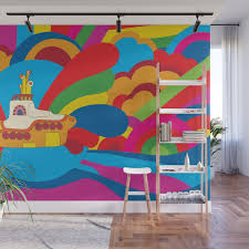 Yellow Submarine Wall Mural By Jaimeviens Society6