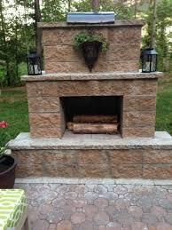 backyard fireplace outdoor