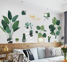 Wall Stickers Depth Illusion Pvc Wall Decal Sticker Murals Art Decals Decorator Self Adhesive Removable Decorative Picture Green Plants Stickers On Your Wall Stickers To Decorate Walls From Qiyuemaoyi 86 6 Dhgate Com