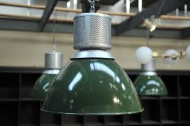 industrial green enamel pendant lamp