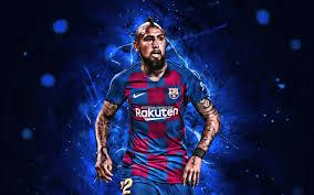 تحميل خلفيات أرتورو فيدال 2019 برشلونة Fc إسبانيا الدوري كرة