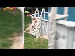 Caught On Camera Video Of Toddler Climbing Pool Ladder Goes Viral Youtube
