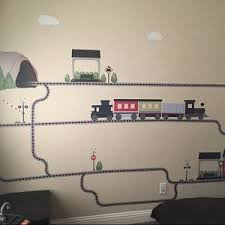 Freight Car Train Wall Decal W Railroad Track Straight Right Etsy Cloud Wall Decal Balloon Wall Wall Decals