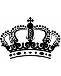 Discover Deals On Kings Crown Vinyl Wall Art Black
