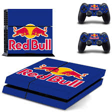 Red Bull Ps4 Skin Sticker Vinyl Bundle Designer Lab Co