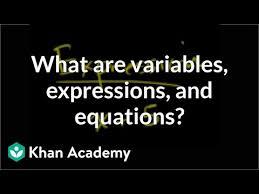 variables expressions equations
