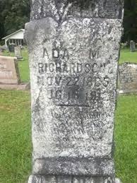 Ada Missouri Richardson (1885-1912) - Find A Grave Memorial