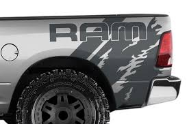 Dodge Ram 1500 2500 3500 2009 2018 6 5 Bed Vinyl Decal Wrap Ram Quarter Factory Crafts