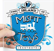Amazon Com Cafepress Island Of Misfit Toys Sticker Square Bumper Sticker Car Decal 3 X3 Small Or 5 X5 Large Home Kitchen