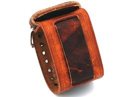 nemesis in bs wide brown leather cuff