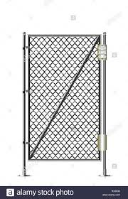 Realistic Metal Chain Link Fence Art Design Gate Prison Barrier Secured Property The Chain Link Of Fence Wire Mesh Steel Metal Rabitz Electronic Stock Vector Image Art Alamy