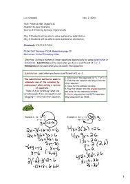 linear equations algebraically