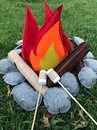 Felt Campfire Felt Camp Camping Toys Kids Camping Felt Etsy