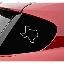 Amazon Com Slap Art Texas Tx State Outline Vinyl Decal Sticker Automotive