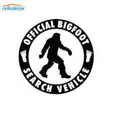 12 12cm Official Bigfoot Search Vehicle Car Sticker Vinyl Decal Sasquatch Car Truck Laptop Notebook Art Decor Pattern Sign L975 Car Stickers Aliexpress