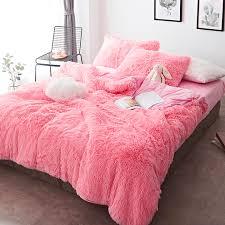 colorful 4 piece faux fur bedding set