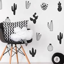 Cactus Wall Stickers Woodland Tribal Cactus Wall Decals For Kids Baby Room Boy Nursery Decor Diy Bedroom Wall Decor L58 Wall Decals Cactus Wall Stickerwall Sticker Aliexpress