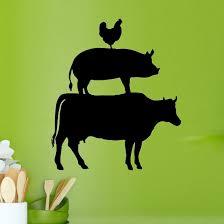 Decalthewalls Cow Pig And Chicken Kitchen Vinyl Wall Decal Wayfair