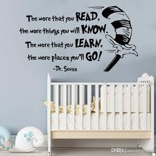 The More That You Read Wall Decals Quote Vinyl Dr Suess Quote Saying Sticker Decor For Living Room Baby Room Wall Transfer Quotes Wall Transfer Stickers From Carrierxia 3 52 Dhgate Com