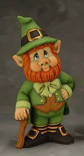 ready to paint ceramic leprechaun figurine