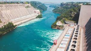 The Niagara River, showing the Sir Adam Beck hydro power station on the  right. Canada already has a competitive advantage in water technologies.