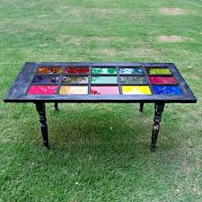 recycling old doors into stylish tables