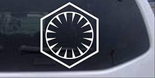 Amazon Com Rad Dezigns Star Wars The First Order Sci Fi Car Or Truck Window Laptop Decal Sticker White 3in X 2 7in Automotive