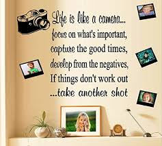 Amazon Com Bestpriceddecals Life Is Like A Camera Wall Decal Wording Camera And Qty 4 Decal Frames Home Kitchen