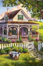 Solve Adorable Little House With White Picket Fence Jigsaw Puzzle Online With 126 Pieces