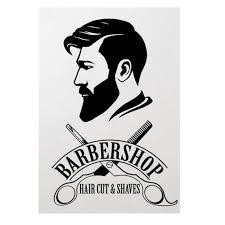 Barbershop Logo Vinyl Sticker Barber Shop Window Decal Hair Cut And Shaves Wall Art Mural Hair Salon Decor Vinyl Wall Art Buy At The Price Of 5 16 In Aliexpress Com Imall Com