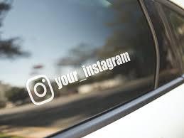 Two Custom Instagram Names Vinyl Decal Car Sticker Etsy
