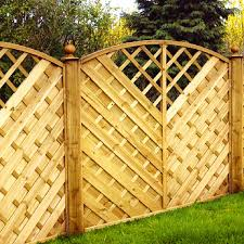 v pattern latticed fence panel with