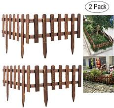 Volwco Wooden Picket Fencing Instant Fence Panels Picket Border Edge Fence Expanding Freestanding Fence For Lawn Patio Festoon Garden Residential Yard Park 62 35cm Amazon Co Uk Health Personal Care