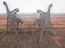 cast iron garden bench ends cast iron