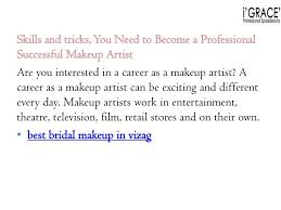 makeup artist skills and qualities