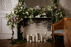flowers and candles wedding romantic
