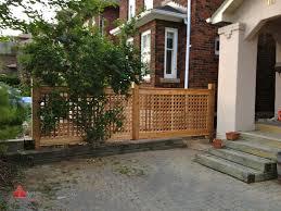 Cedar Privacy Screen Lattice Fence Modern Deck Toronto By Axis Construction