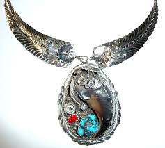 bear claw necklace in 925 silver