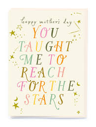 Type and Stars Mothers Day Card - Love of Character