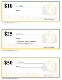 gift certificate salon printable