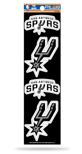 San Antonio Spurs Set Of 4 Decals Stickers The Quad By Rico 3x2 Inches Hub City Sports