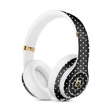 Small Polka Vinyl Skin Decal For Apple Beats Studio 3 A1914 Apple Beats Solo 3 A1796 Wireless Powerbeats 3 Custom Monogram