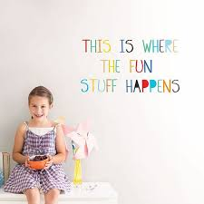 Dwpq2703 Fun Stuff Wall Quote Decals By Wallpops